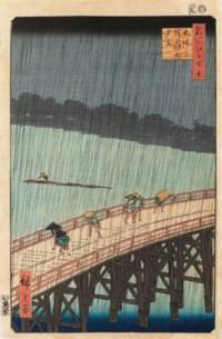 Sudden Shower over Shin-Ohashi Bridge and Atake (Ohashi Atake no yudachi)