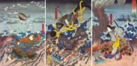 The Battle of Dan-no-ura (Dan-no-ura tatakai no zu)