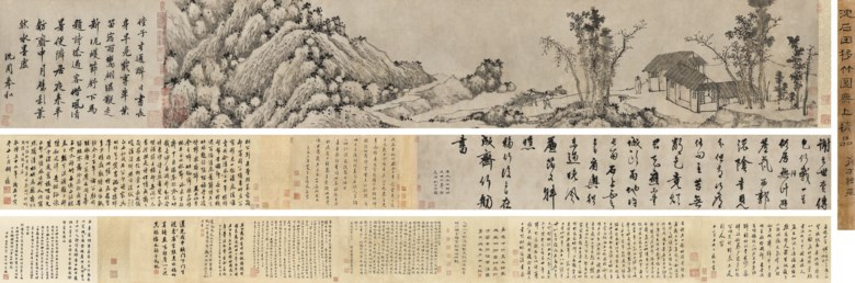 Shen Zhou (1427-1509), Planting Bamboo. 24.5 x 98  cm (9⅝ x 38⅝  in). Sold for HK$16,900,000 on 28 May 2018 at Christie's in Hong Kong