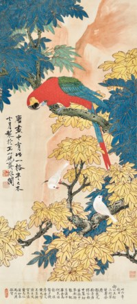 Parrot and White Birds