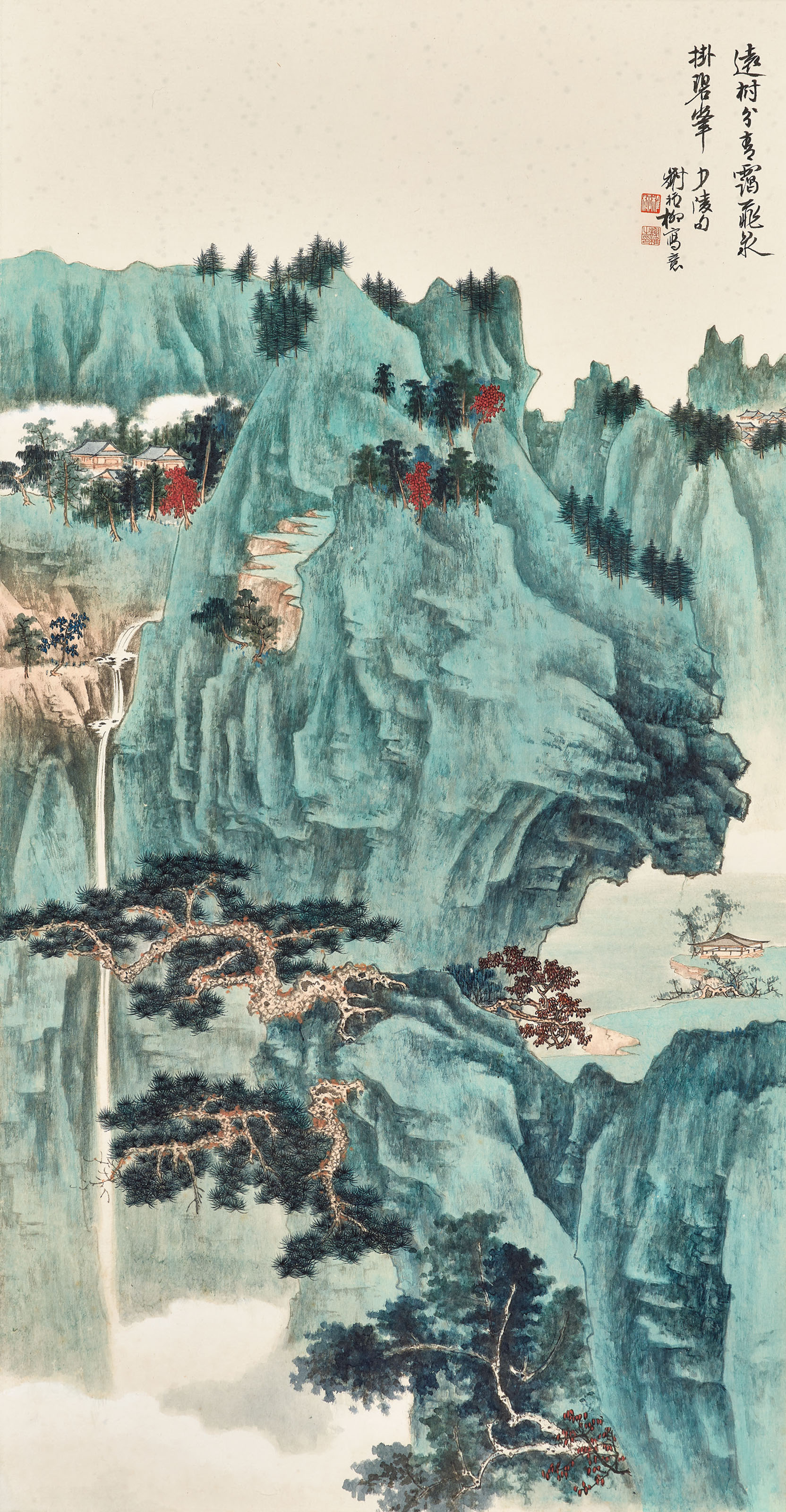Green Mountain and Waterfall