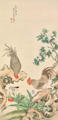 Flowers and Hen