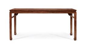 A RARE ZITAN CORNER-LEG TABLE