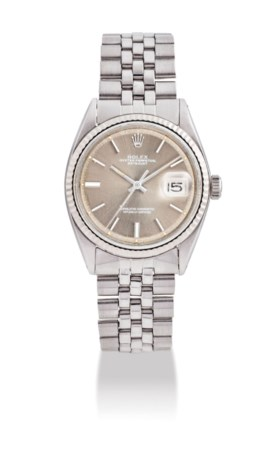 ROLEX A STAINLESS STEEL AND 18K WHITE GOLD AUTOMATIC WRISTWA