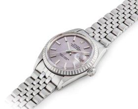 ROLEX AN ATTRACTIVE STAINLESS STEEL AUTOMATIC WRISTWATCH WIT