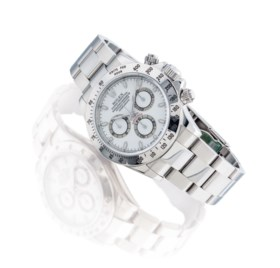 ROLEX A STAINLESS STEEL AUTOMATIC CHRONOGRAPH WRISTWATCH WIT