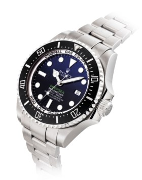 ROLEX. A FINE AND LARGE STAINLESS STEEL AUTOMATIC WRISTWATCH