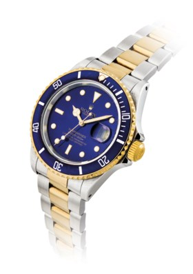 ROLEX. A STAINLESS STEEL AND 18K GOLD AUTOMATIC WRISTWATCH W