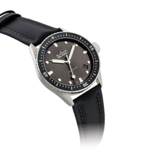 BLANCPAIN. A STAINLESS STEEL AUTOMATIC WRISTWATCH WITH SWEEP