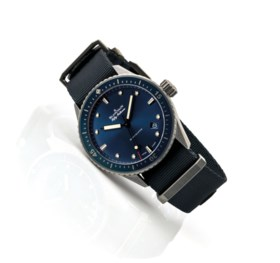 BLANCPAIN. A GREY CERAMIC AUTOMATIC WRISTWATCH WITH SWEEP CE