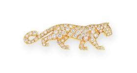 DIAMOND 'PANTHÈRE' PIN, CARTIER