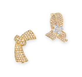 TWO DIAMOND BROOCHES, VAN CLEEF & ARPELS