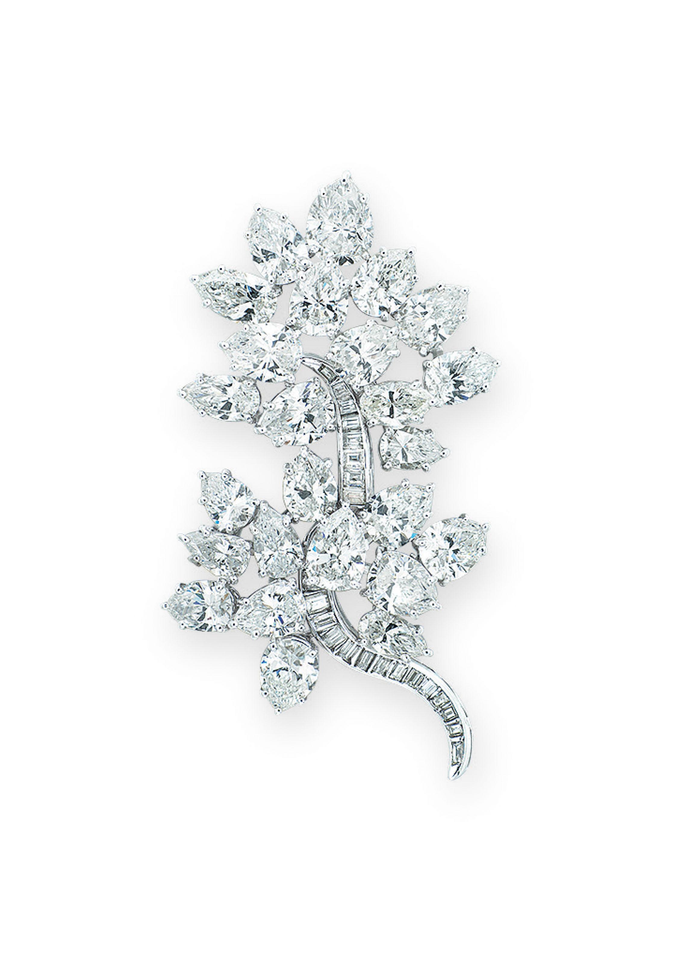 DIAMOND BROOCH, HARRY WINSTON | Jewelry