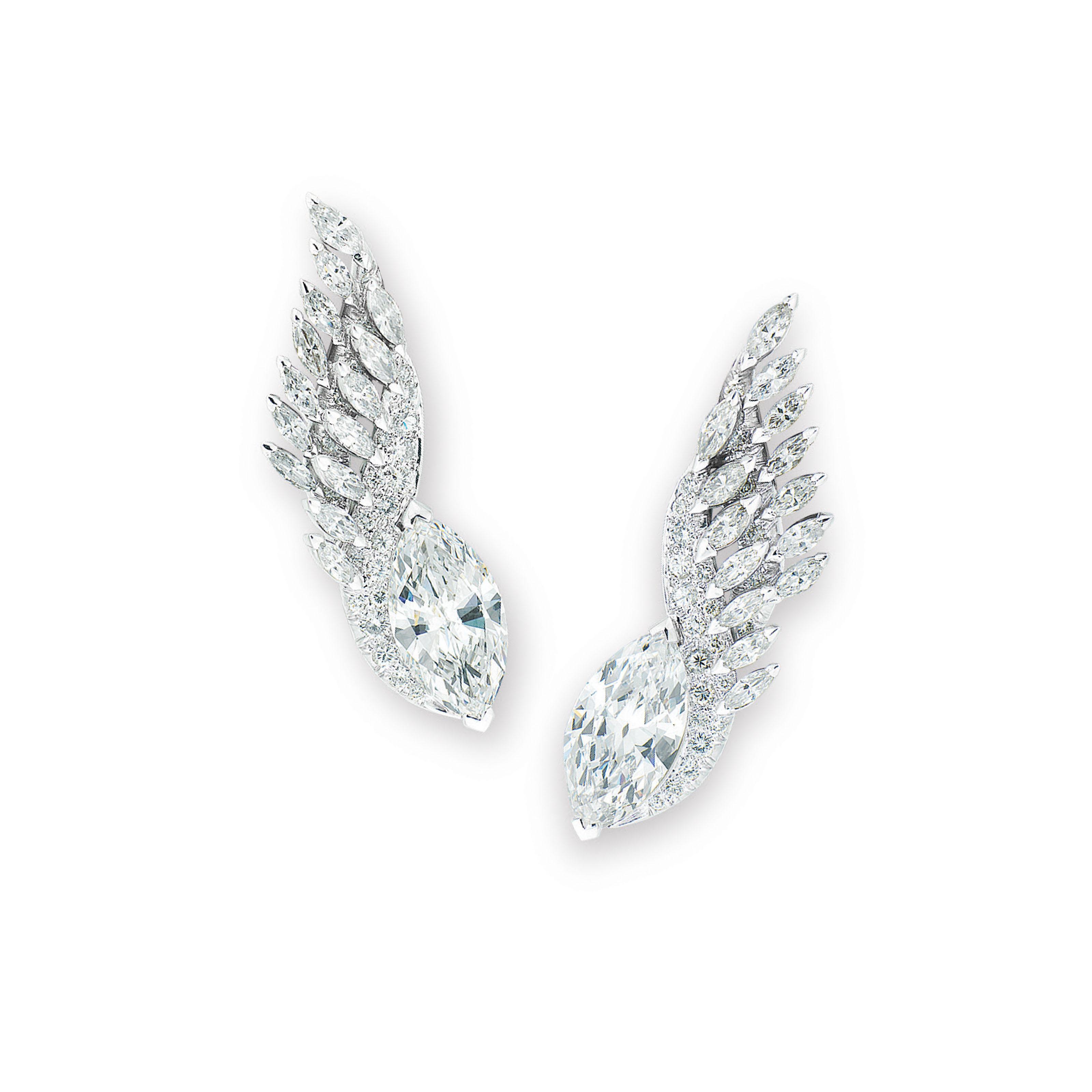 DIAMOND EARRINGS, SCHLUMBERGER
