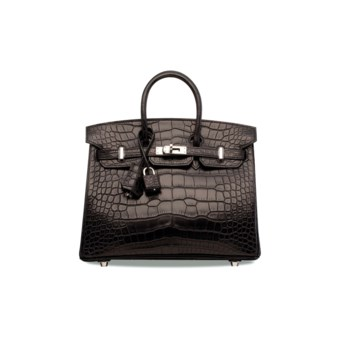 9675b4724ab0 A MATTE BLACK ALLIGATOR BIRKIN 25 WITH PALLADIUM... HERMÈS, 2017