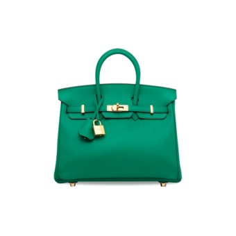 bb8ed5ee9673 A VERT VERTIGO SWIFT LEATHER BIRKIN 25 WITH GOLD... HERMÈS, 2017
