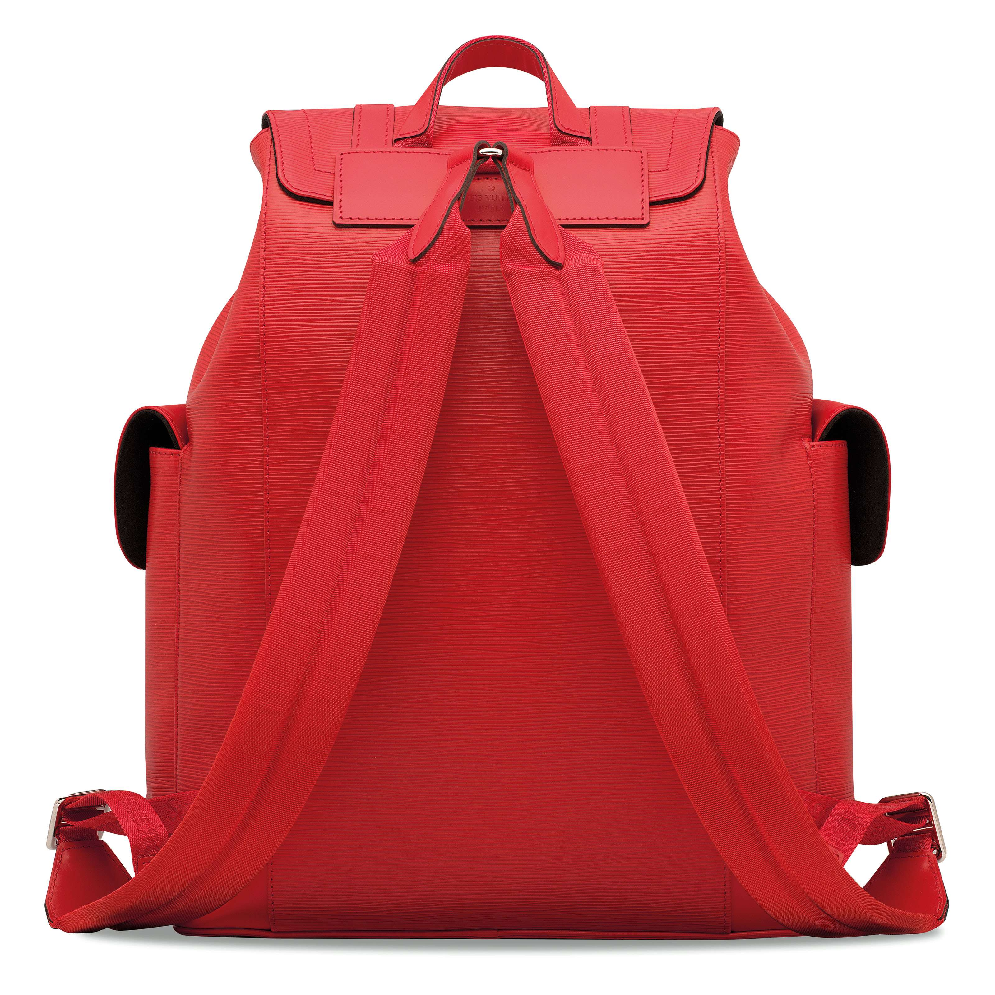 7cb8018b89a3 A LIMITED EDITION RED   WHITE EPI LEATHER CHRISTOPHER BACKPACK WITH ...