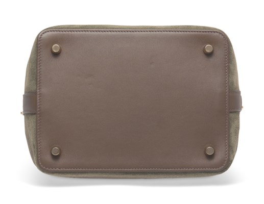 e22dd268a346 A LIMITED EDITION EUCALYPTUS VEAU DOBLIS   SWIFT LEATHER GRIZZLY TOOLBOX 20  WITH PERMABRASS HARDWARE