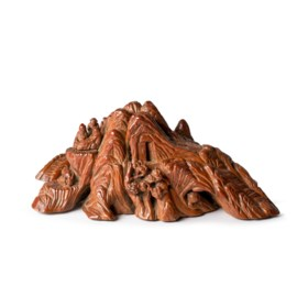A CARVED BOXWOOD MOUNTAIN