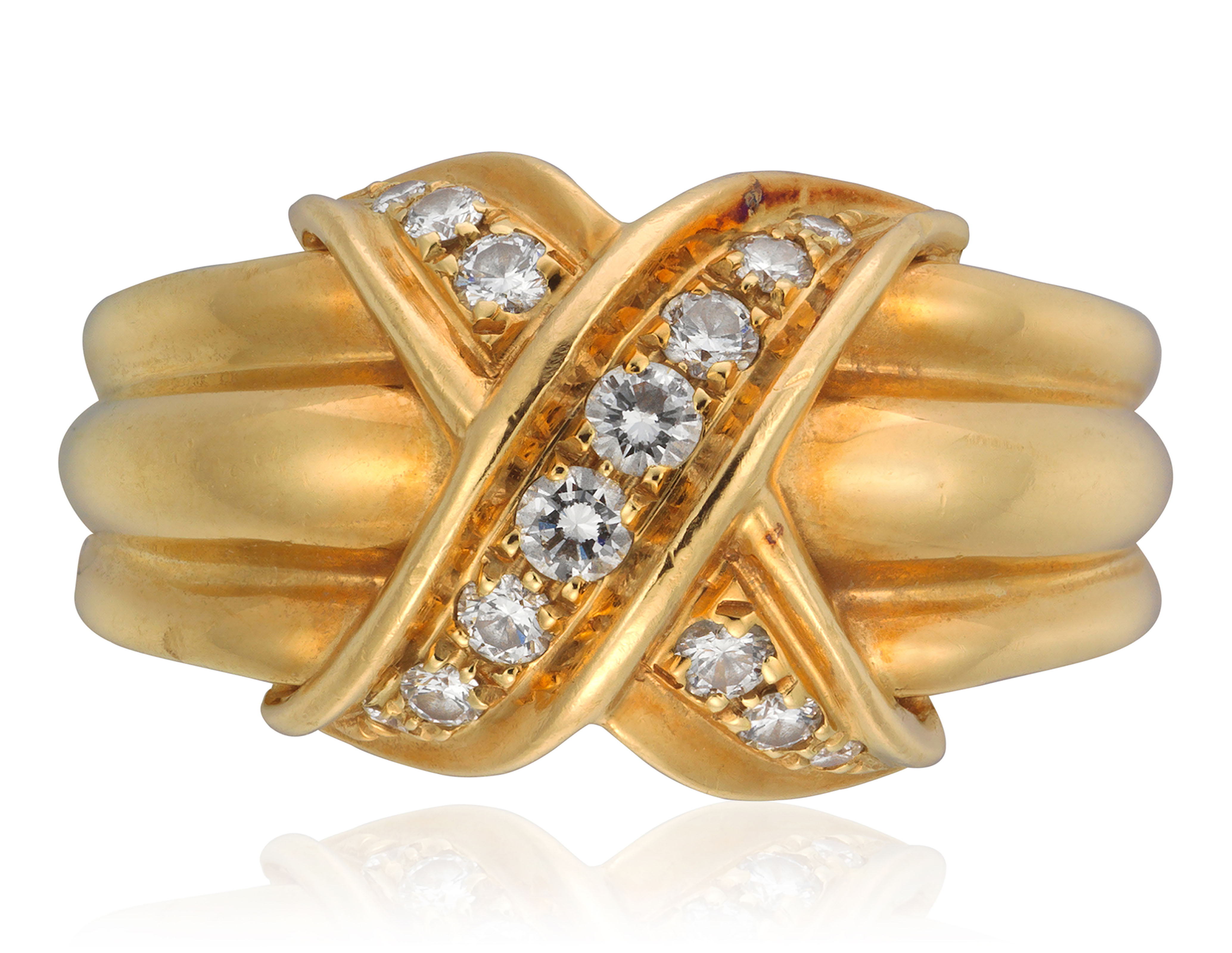 TIFFANY & CO. SET OF GOLD AND DIAMOND JEWELRY
