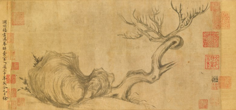 Su Shi (1037-1101), Wood and Rock. Overall with mounting 27.2 x 543  cm (10¾ x 213¾  in). Sold for $HK463,600,000 on 26 November 2018 at Christie's in Hong Kong