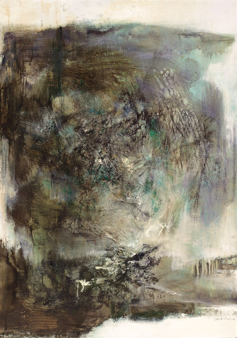 Zao Wou-Ki (Zhao Wuji, 1920-2013), 20.01.69, painted in 1969. 115.8 x 81 cm (45⅝ x 31⅞  in). Sold for HK$15,700,000 on 26 November 2018 at Christie's in Hong Kong
