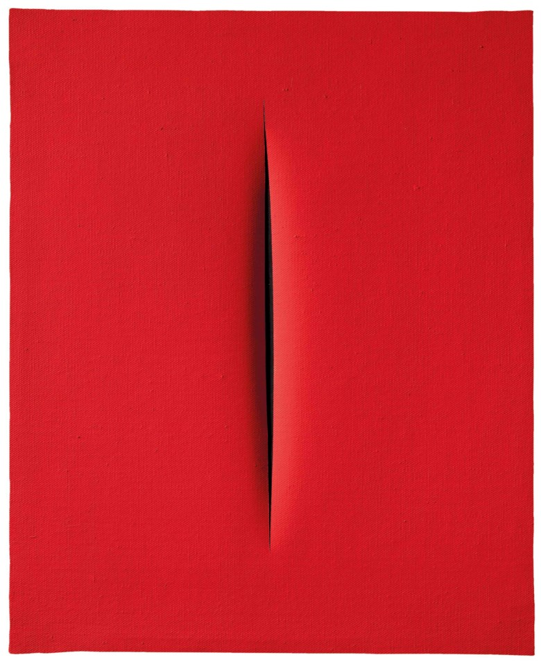 Lucio Fontana (1899-1968), Concetto spaziale, Attesa. 61.5 x50 cm. Estimate €700,000-1,000,000. This lot is offered in Milan Modern and Contemporary Art on 11 April 2018  at Christie's in Milan