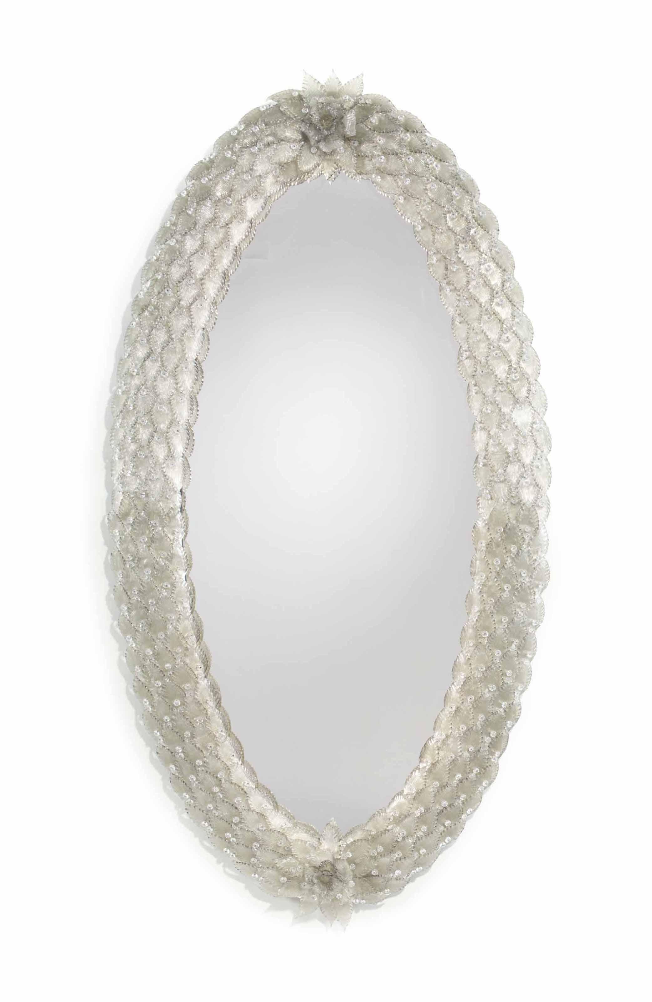 A Venetian Murano Glass Mirror 20th Century Furniture Lighting Mirrors Christie S