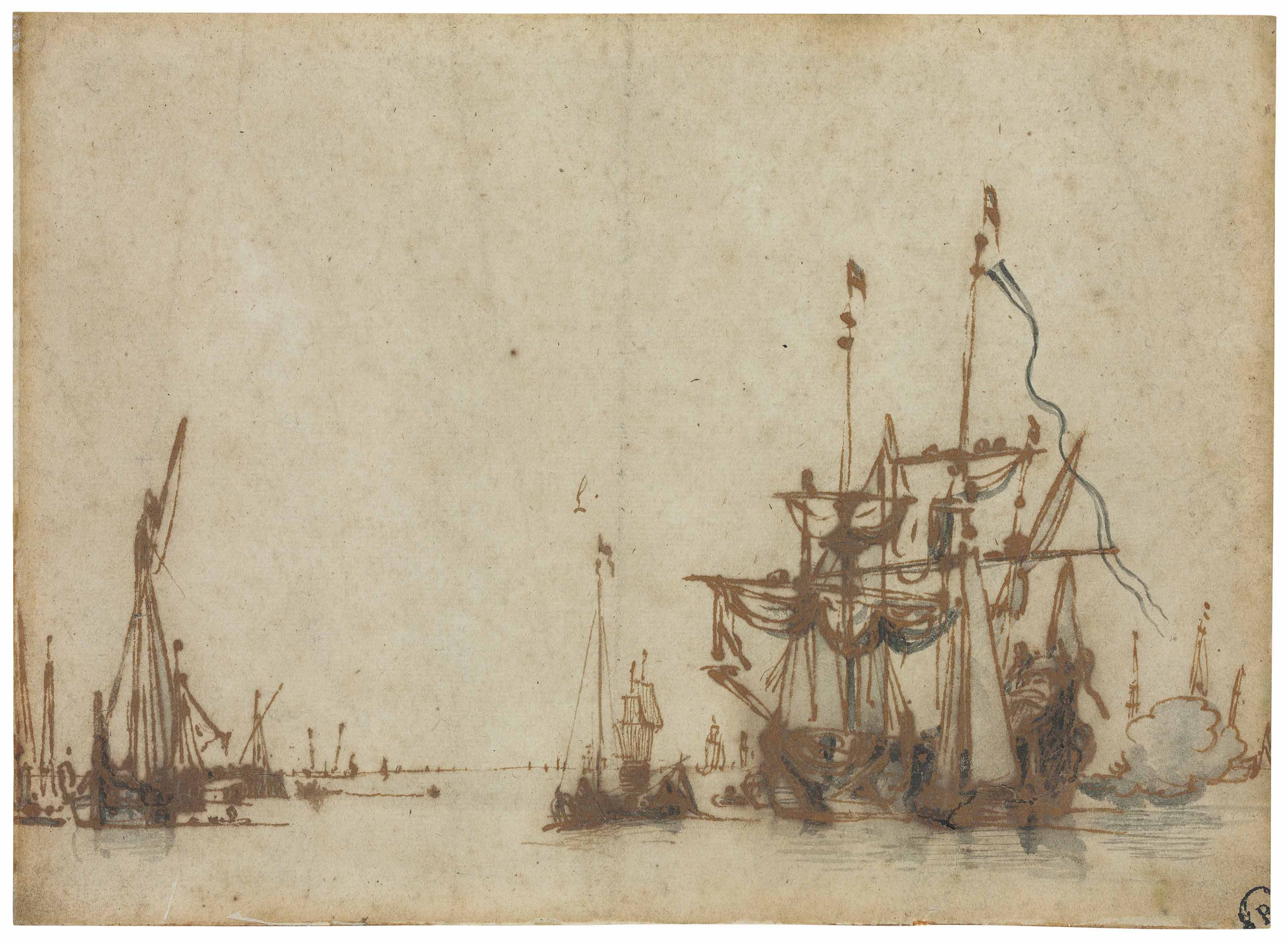 Willem van de Velde II (Leiden 1633-1707 Greenwich)