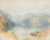 The Lake of Lucerne from Brunnen, with a Steamer