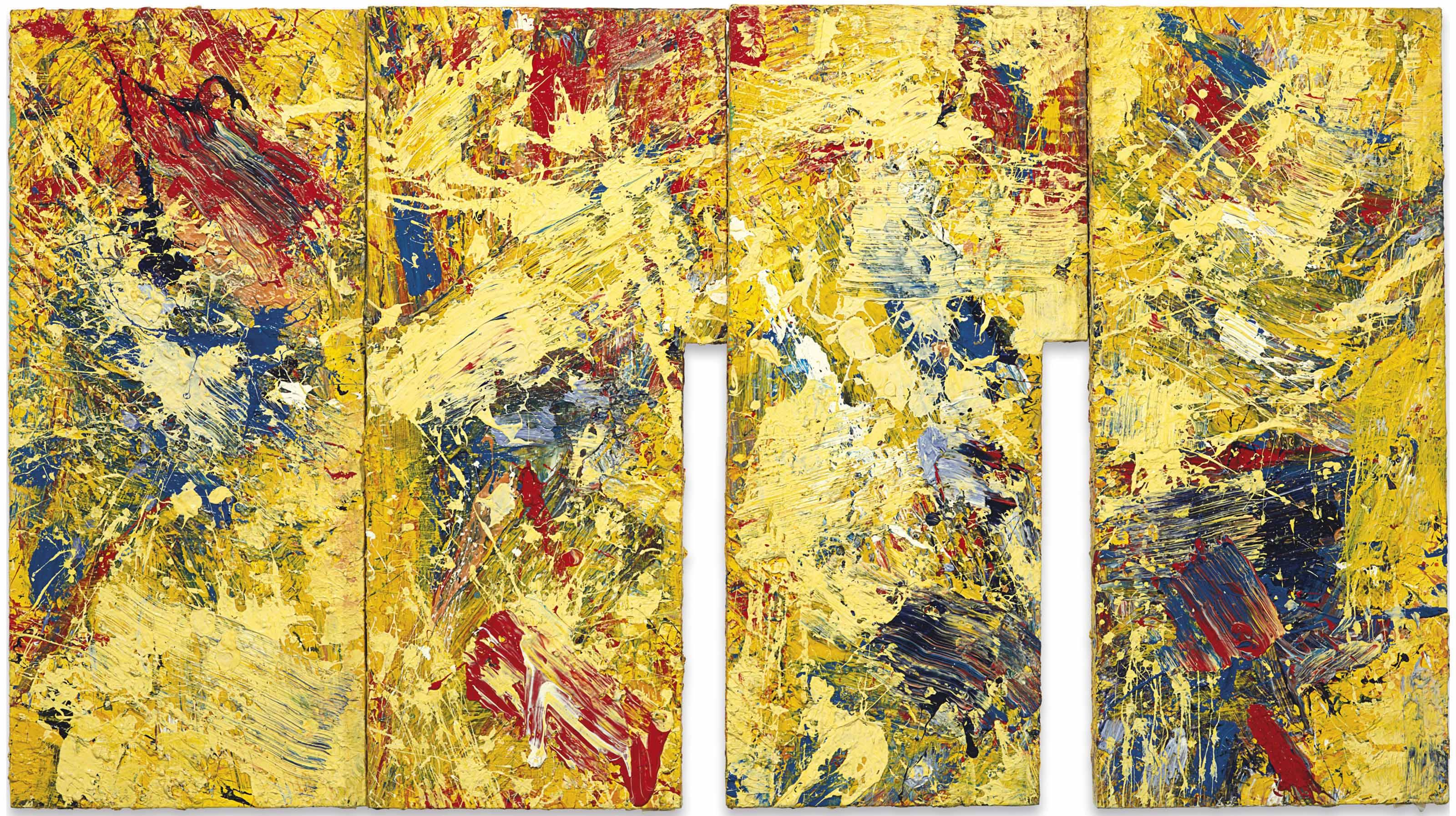 Sam Gilliam (b. 1933) | Flowering Plum | 1980s, Paintings | Christie\'s