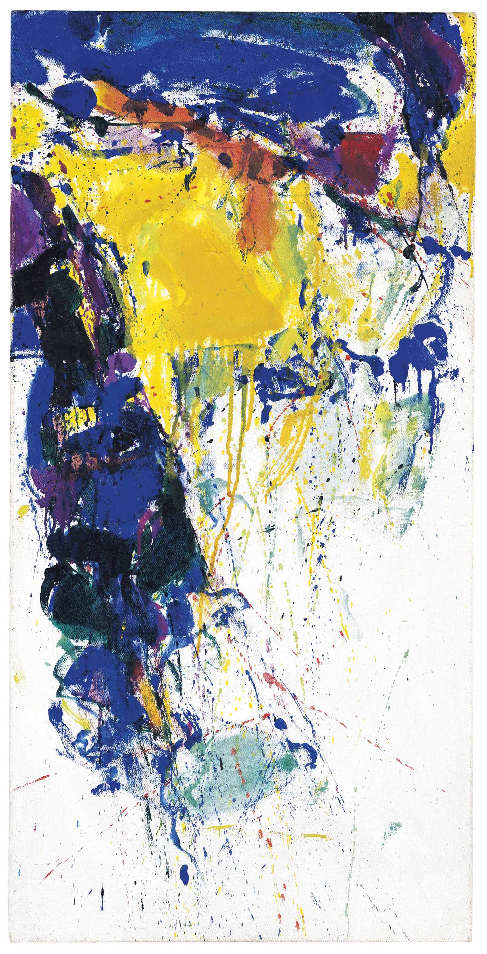 Sam Francis 1923 1994 Blue Yellow And Green Christie S