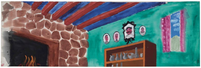 David Hockney (b. 1937), Untitled (Family Portraits from El Gran Teatro), painted in 1984. 45½ x 137¾  in (115.6 x 349.9  cm). Estimate $250,000-350,000. This lot is offered in Post-War and Contemporary Art on 1 March 2018  at Christie's in New York