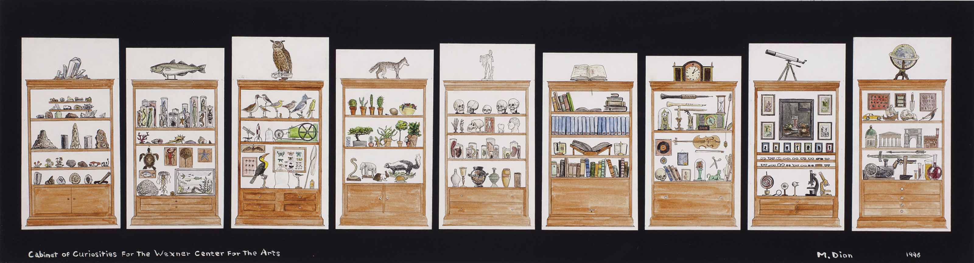 Cabinet of Curiosities for the Wexner Centre for the Arts