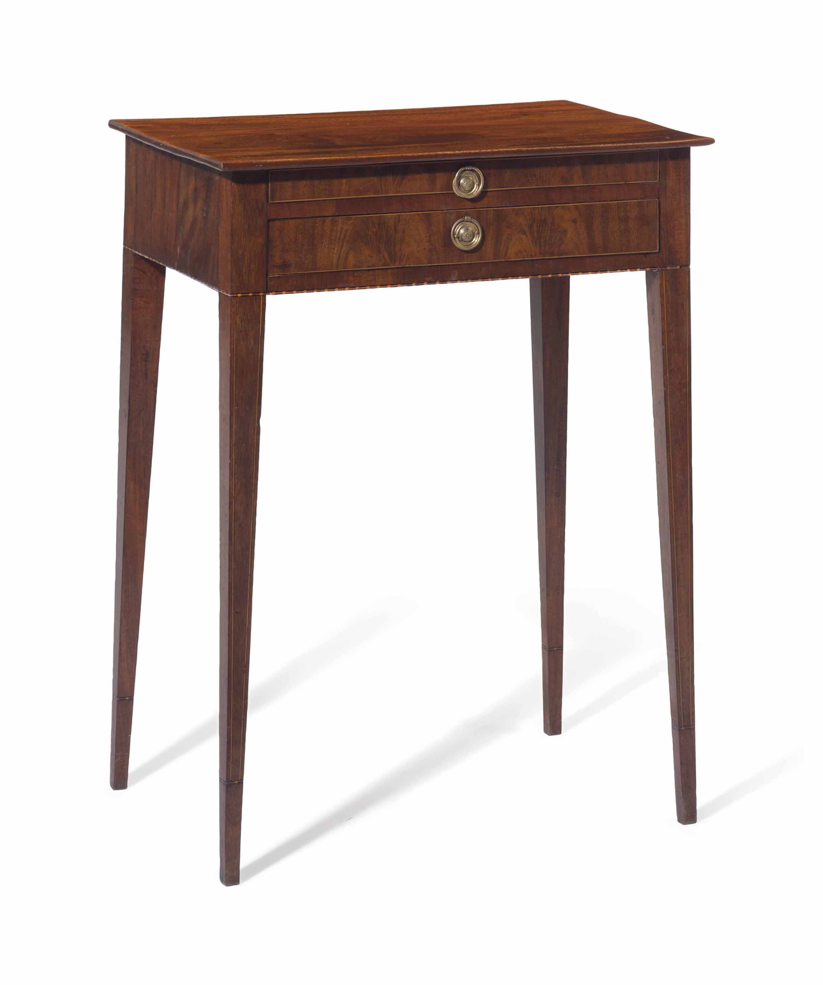 A FEDERAL INLAID MAHOGANY SIDE TABLE