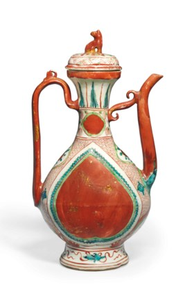 A KINRANDE EWER AND COVER