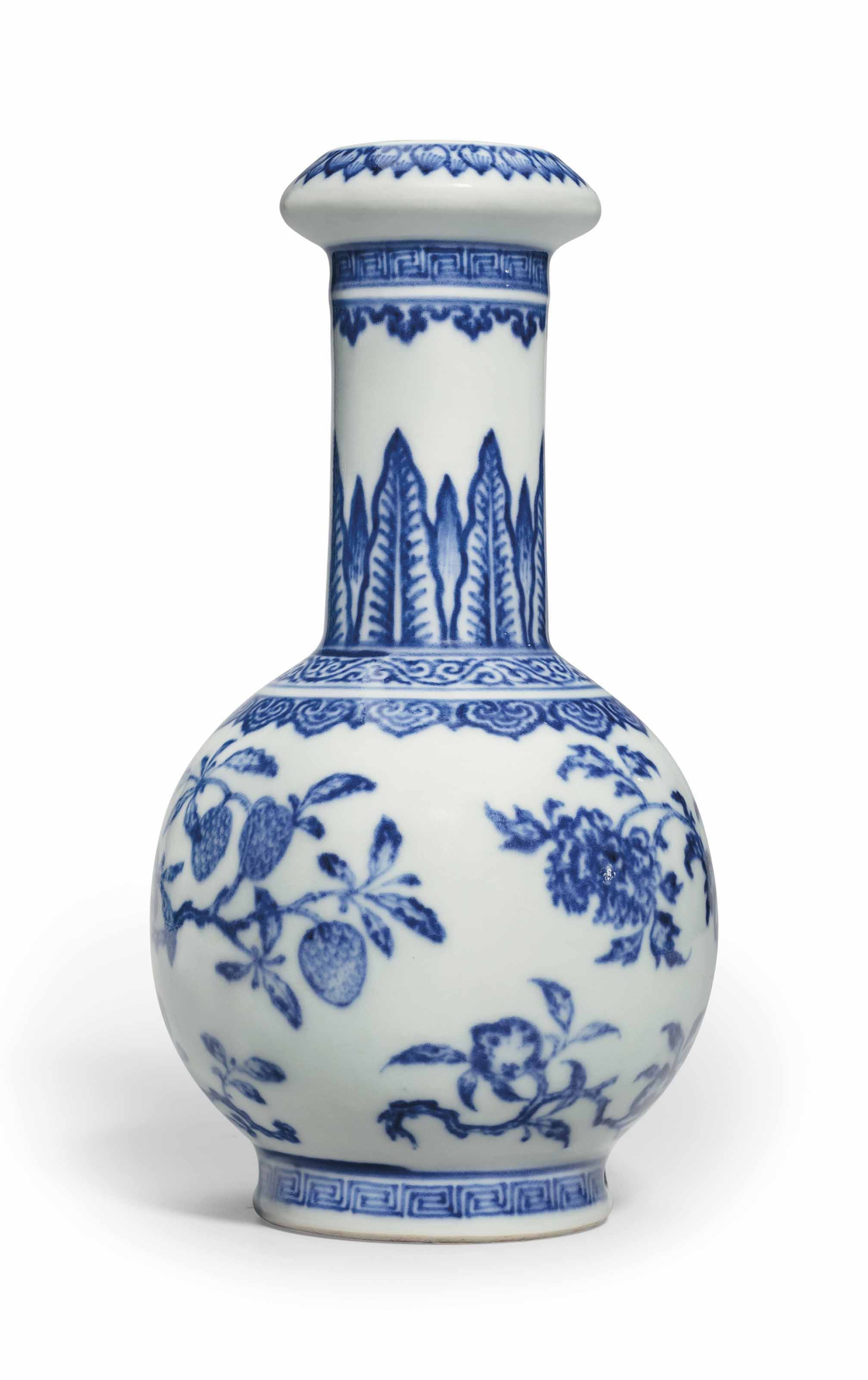An Unusual Small Blue And White Vase Qianlong Period 1736