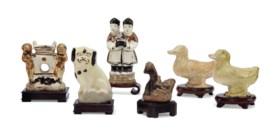 唐及以後 陶瓷塑像一組