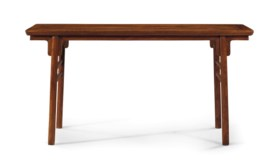 A HUANGHUALI RECESSED-LEG TABLE, PINGTOU'AN