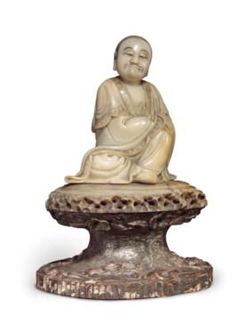 十七/十八世紀 壽山石雕羅漢坐像