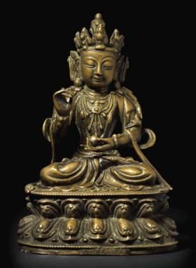 明 銅菩薩坐像