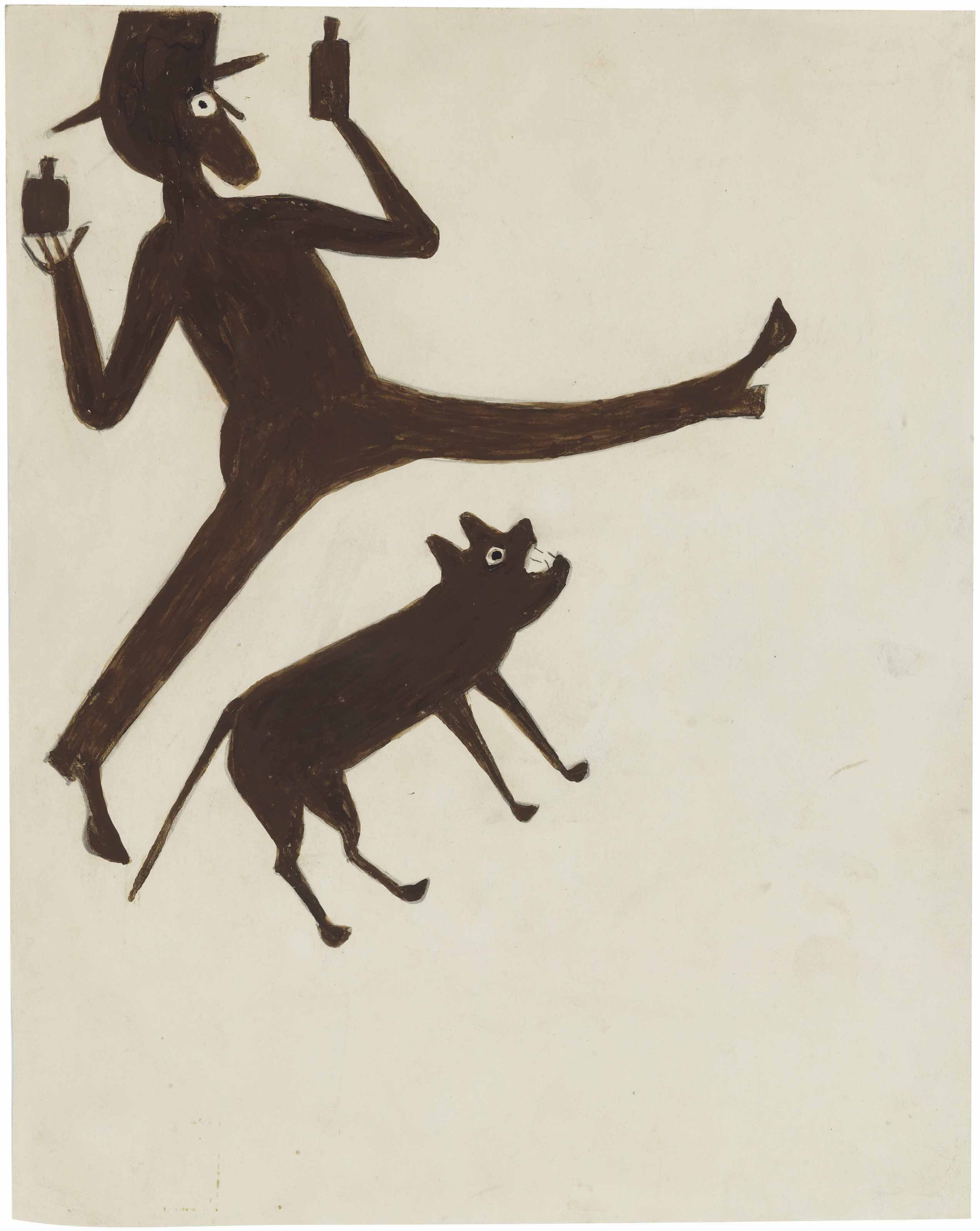 Drinking Man with Dog, 1939