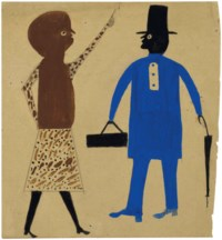 A Couple: Woman in a Spotted Dress and Man in Blue with Doctor's Bag, 1939-1942
