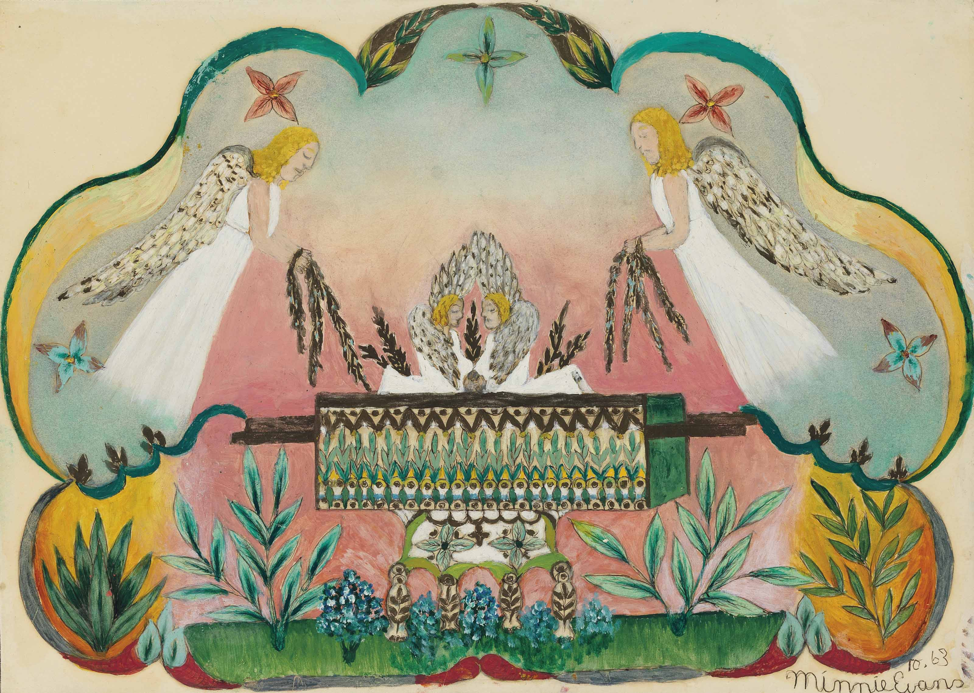 Untitled (Angels Holding the Arc of the Covenant), 1963