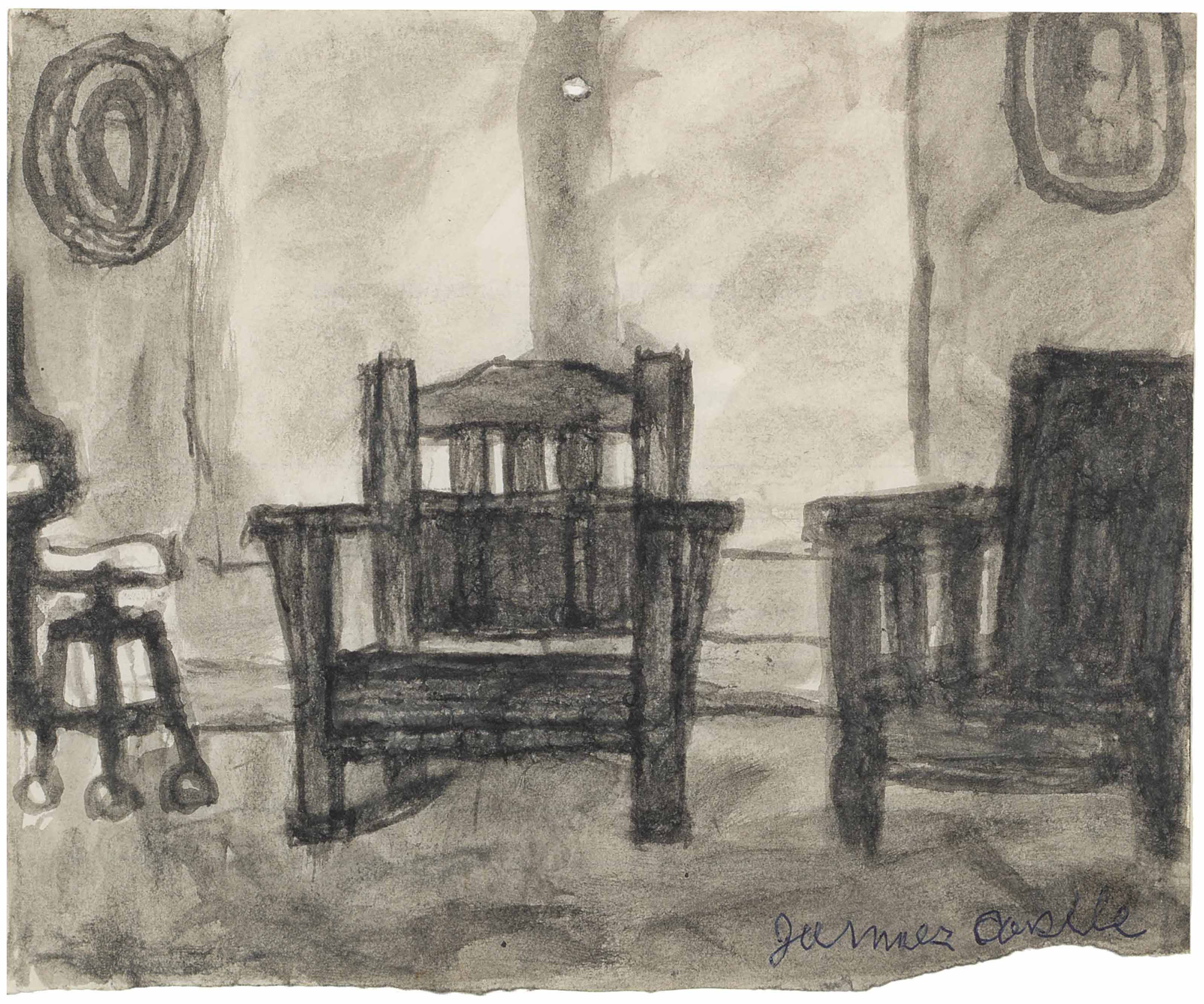 Untitled (Two Chairs and a Stool)