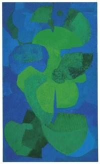 Untitled (Composición en azul y verde)