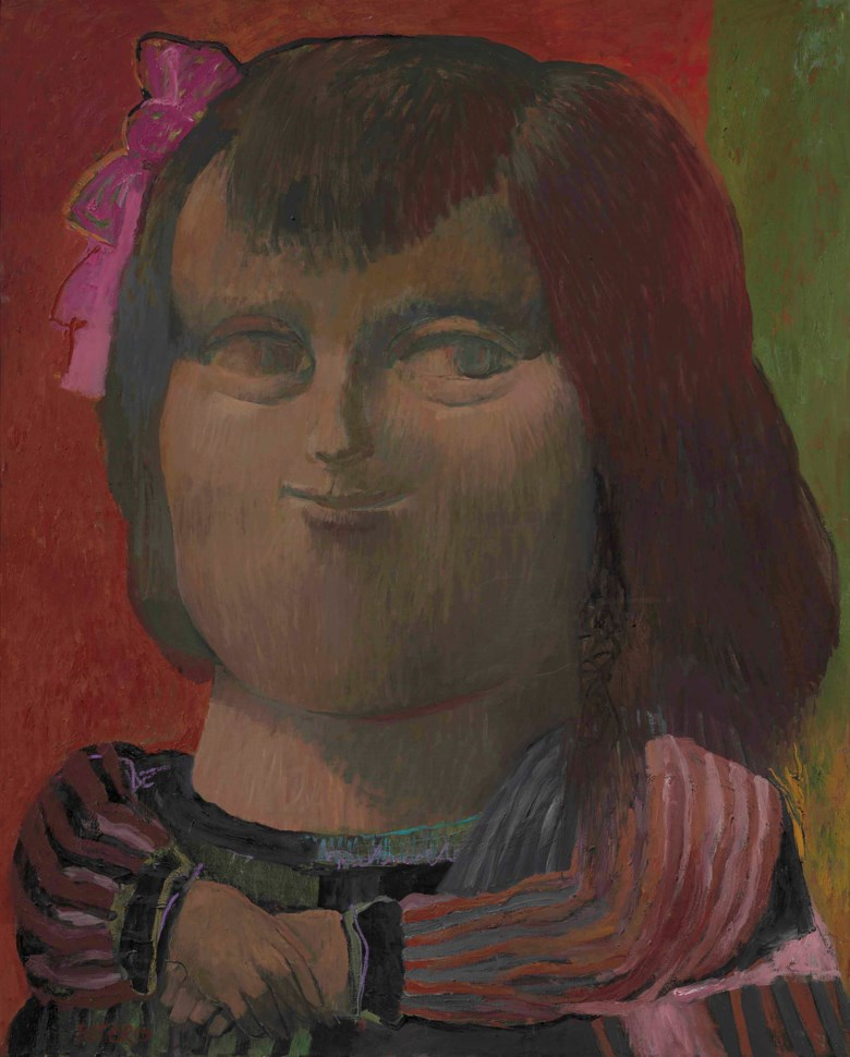 Fernando Botero (b. 1932), Mona Lisa, painted in 1959. 64½ x 51½  in (163.8 x 130.8  cm). Estimate $600,000-800,000. This lot is offered in Latin American Art on 23-24 May at Christie's in New York