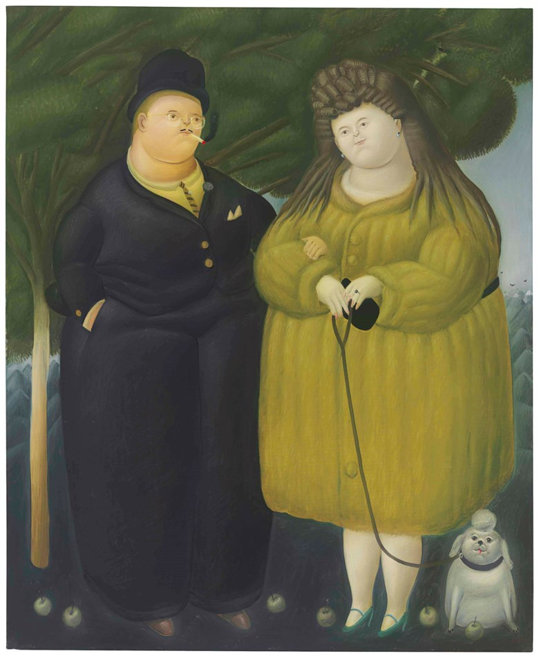 Fernando Botero (b. 1932), Los ricos, painted in 1967. 76 x 62½  in (193 x 158.8  cm). Estimate $800,000-1,200,000. This lot is offered in Latin American Art on 23-24 May at Christie's in New York
