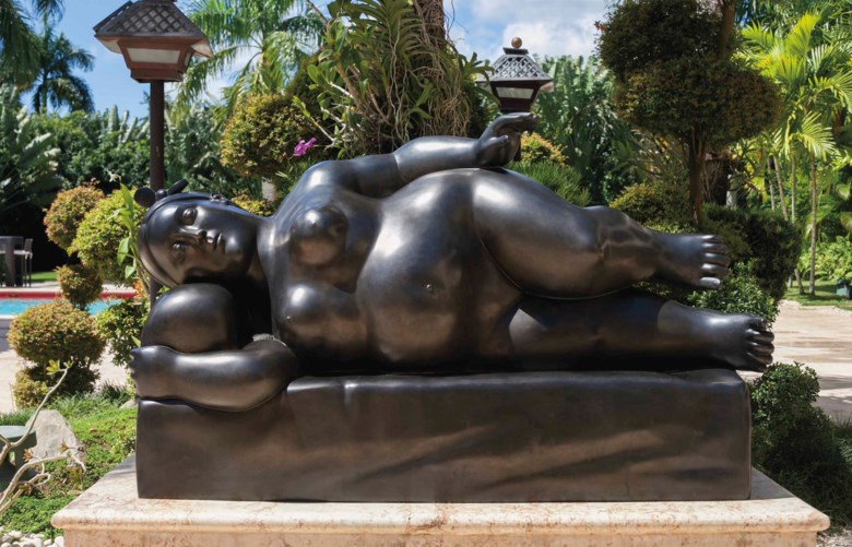 Fernando Botero (b. 1932), Reclining Woman. 40¼ x 62⅞ x 23½  in (102 x 160 x 60  cm). Estimate $600,000-800,000. This lot is offered in Latin American Art on 23-24 May at Christie's in New York