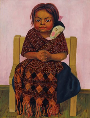 Diego Rivera (1886-1957), Niña con muñeca de trapo, painted in 1939. 32⅛ x 24 ¾  in (81.6 x 62.9  cm). Estimate $600,000-800,000. This lot is offered in Latin American Art on 20-21 November 2018 at Christie's in New York
